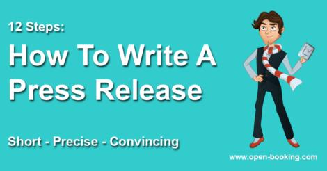 How to write a press release – short, precise, convincing