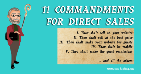 11 Commandments for direct bookings